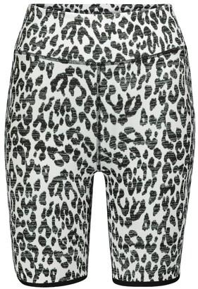 The Upside Dance leopard-print biker shorts