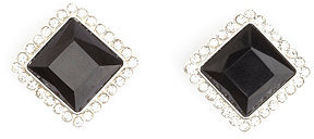 Charlotte Russe Faceted Rhinestone Square Stud Earrings