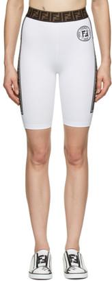 Fendi White Fendirama Cycling Shorts