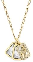 Monica Rich Kosann 18K Yellow Gold Photo-Charm Chain Necklace with Diamonds, 18L