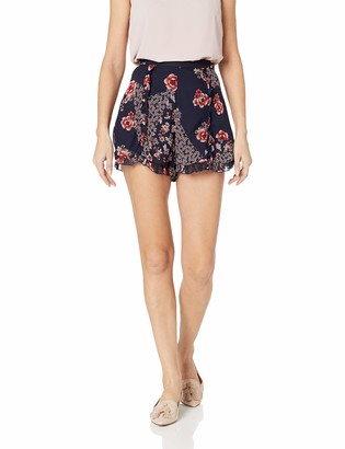 The Fifth Label Women's East HIGH Waisted Floral Ruffle Flared Shorts