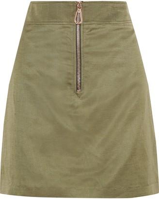 Sandro Erman Zip-detailed Woven Mini Skirt