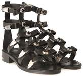 Toga Studded Leather Bow Sandal