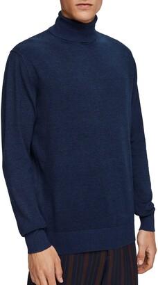 Scotch & Soda Melange Slim Fit Turtleneck Sweater