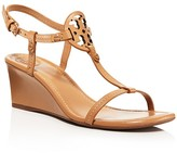 Tory Burch Miller T Strap Wedge Sandals