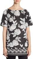St. John Women's Floral-Print Silk Tunic