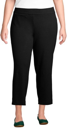Lands' End Women's Starfish Straight-Leg Pull-On Crop Pants