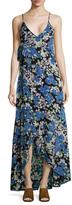 Wildfox Couture Floral Surplice Maxi Dress