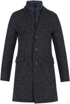 Herno Detachable-placket single-breasted tweed coat
