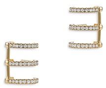 Bloomingdale's Diamond Triple Row Huggie Hoop Earring in 14K Yellow Gold, 0.55 ct. t.w. - 100% Exclusive