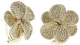 Effy Jewelry Effy 14K Yellow Gold Diamond Flower Earrings, 2.17 TCW