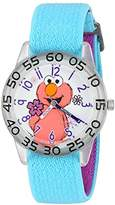 EWatchFactory Girl's 'Sesame Street' Quartz Plastic and Nylon Automatic Watch, Color:Blue (Model: W003205)