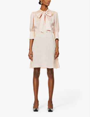Victoria Victoria Beckham Jacquard pattern crepe midi dress