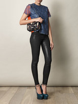 J Brand 901 Stealth coated low-rise skinny jeans