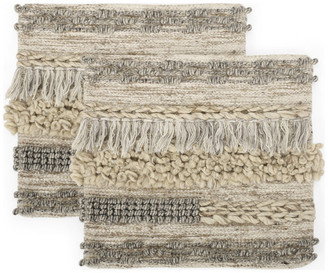 Gdfstudio Arunah Hand-Loomed Boho Pillow Cover, Set of 2