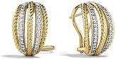 David Yurman Lantana Earrings with Diamonds in Gold