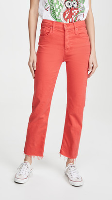 Mother Tomcat Ankle Fray Jeans
