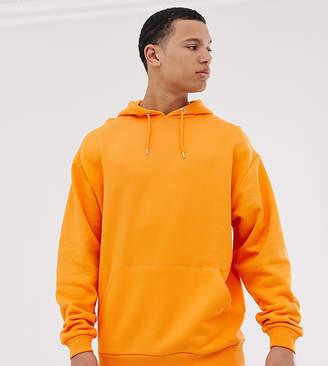 Asos Design DESIGN Tall oversized hoodie in orange