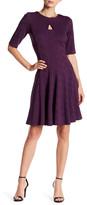 Taylor Elbow Length Keyhole Dress