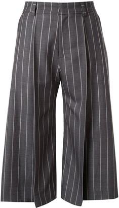 Maison Mihara Yasuhiro Striped Print Culottes