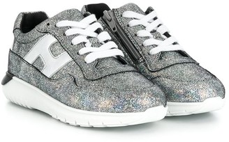 Hogan Interactive metallic chunky sneakers