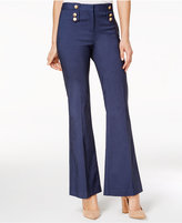 XOXO Juniors' Button-Trim Flare-Leg Trousers