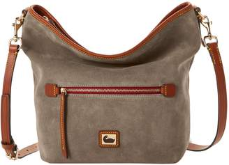 Dooney & Bourke Camden Suede Small Hobo Crossbody