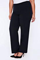 Yours Clothing Navy Pablo Trouser With Elasticated Back