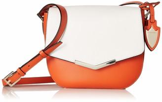 MONICA Time's Arrow Skyler Saddle Socialite White Santa Sunset Leather Handbag