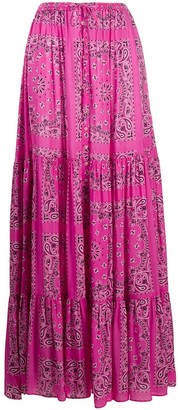 MC2 Saint Barth Paisley Maxi Skirt
