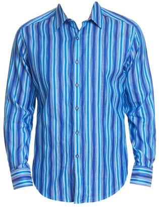 Robert Graham Frances Cotton Stripe Shirt
