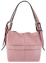 B. Makowsky As Is Leather Snap Top Shopper w/ Shoulder Straps