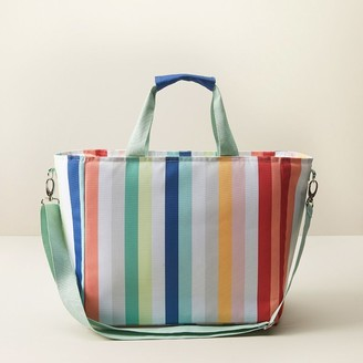 Indigo Insulated Cooler Bag Multi Stripe