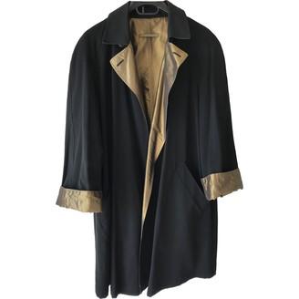 Jean Paul Gaultier Black Wool Trench Coat for Women Vintage