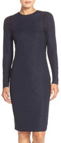 Andrew Marc Metallic Knit Sheath Dress