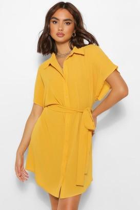 boohoo Kimono Sleeve Shirt Dress