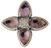 David Yurman Amethyst, Sapphire & Diamond Star Pendant