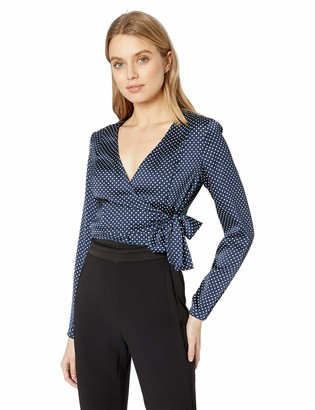The Fifth Label Women's Fountain Long Sleeve Polka Dotted Wrap Top