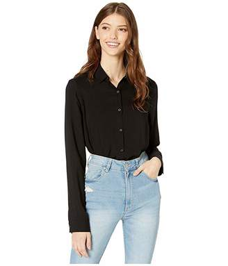 Cotton On Teen Rachel Everyday Shirt (Black) Girl's Clothing