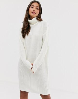 Brave Soul emilina roll neck jumper dress