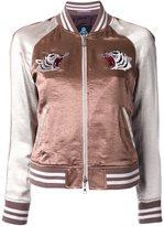 GUILD PRIME tiger embroidered bomber jacket