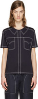 Stella McCartney Navy Topstitched T-Shirt