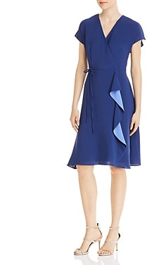 Adrianna Papell Gauzey Crepe Draped Dress