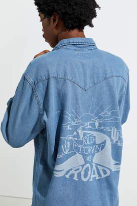 Wrangler X Lil Nas X Denim Western Button-Down Shirt