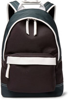 Ami Leather-Trimmed Canvas Backpack