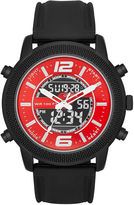 JCPenney FASHION WATCHES Mens Silicone Strap Analog/Digital Watch