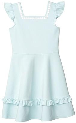 Janie and Jack Ponte Dress (Toddler/Little Kids/Big Kids) (Blue) Girl's Dress