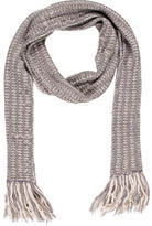 Marni Fringe-Trimmed Cable Knit Scarf