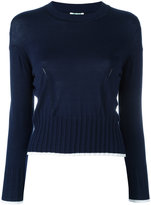 Kenzo knitted crew neck jumper - women - Silk/Cotton/Viscose - M