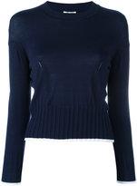 Kenzo knitted crew neck jumper - women - Silk/Cotton/Viscose - S